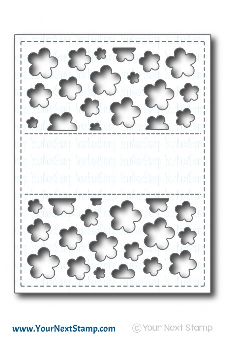 Your Next Stamp - Flower Panel Die
