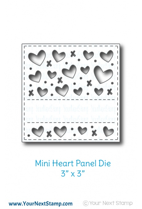 Your Next Stamp - 3x3 Heart Panel die