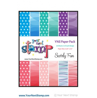 Your Next Stamp- Swirly Fun Paper Pack