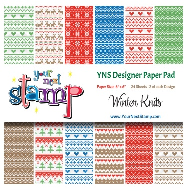 Your Next Stamp- Winter Knits Paper Pad