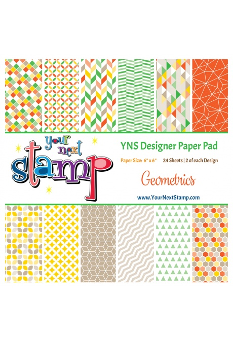 *NEW* - Your Next Stamp - Geometrics 6x6 Paper Pad