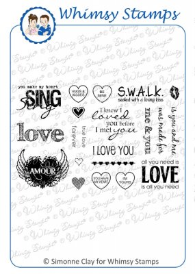 Whimsy Stamps - All You Need is Love - SC Design Collection