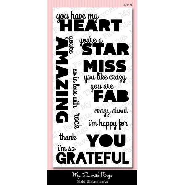 *SALE* My Favorite Things - Bold Statements Stamp Set
