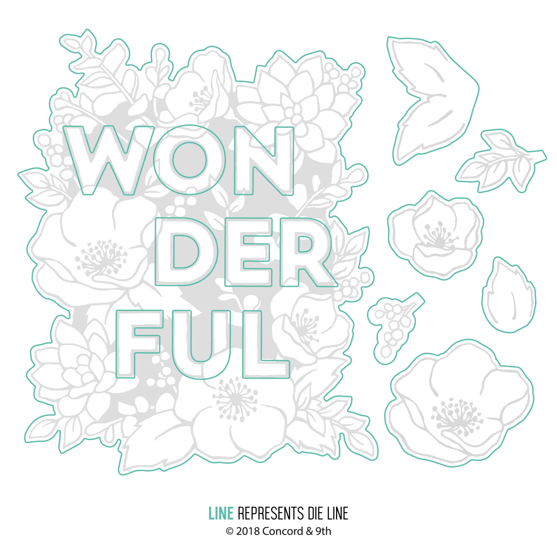 *NEW* - Concord & 9th - Wonderful Florals dies