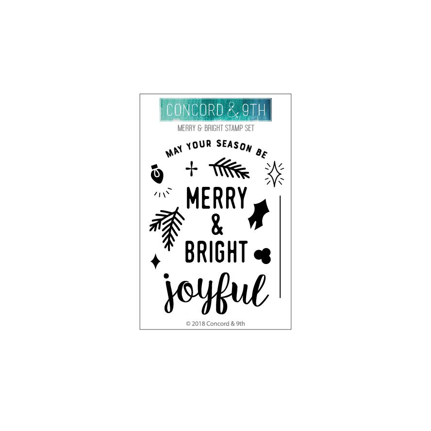 *NEW* - Concord & 9th - Merry & Bright stamp