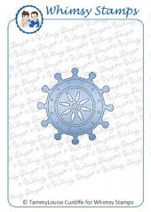Whimsy Stamps - Captain's Wheel die - Shapeology Dies