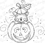 Whimsy Stamps - Cat O' Lantern - Meljen's Designs
