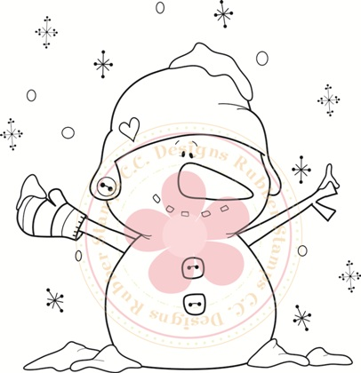 **NEW**  CC Designs Snowman