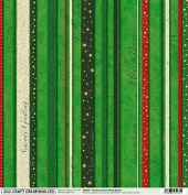 Christmas Green Mixed Stripes