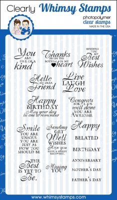 Whimsy Stamps - Simple Sentiments - Clear Stamps