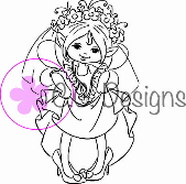 * NEW * CC Designs - Drozy's Darlings Dress Up Rubber Stamp