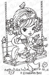 ** Whimsy Stamps - Strawberry Swing - Elisabeth Bell