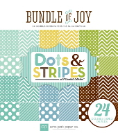 *NEW* Echo Park - Bundle of Joy - Boy Dots and Stripes 6 x 6 Paper Pad