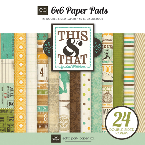 Echo Park - This & That - Charming 6 x 6 Pad