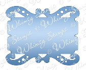 ###Whimsy Stamps - Fancy Ticket Die - Shapeology Dies