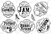 ###Whimsy Stamps - From The Kitchen Notables 5 - Sentiments Collection