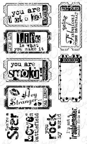 ** Whimsy Stamps - The Fun Life Tickets - Sentiments Collection