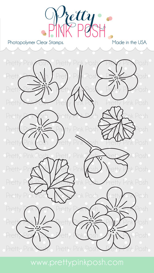 Pretty Pink Posh - Geraniums stamp set