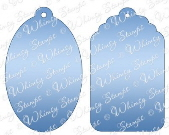 ###Whimsy Stamps - Gift Tags Die Set - Shapeology Dies