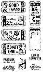 ** Whimsy Stamps - The Good Life Tickets - Sentiments Collection