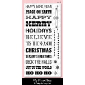 *SALE* My Favorite Things - Holiday Subway Art Stamp Set