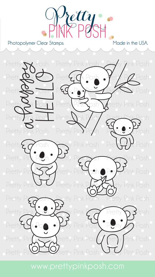Pretty Pink Posh - Koala Friends stamp set