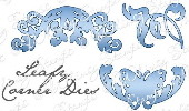 * Whimsy Stamps - Leafy Corners Die Set - Shapeology Dies