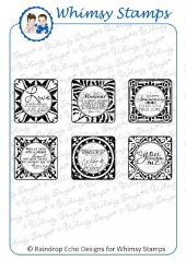 * Whimsy Stamps - Love Tiles - Sentiments Collection