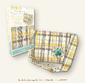 My Mind's Eye See Me Sew DIY Kit - Messenger Bag Yellow Plaid