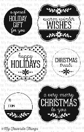 *SALE* My Favorite Things - Christmas Labels and Tags Stamp PLUS MATCHING DIE