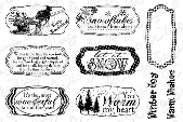 Whimsy Stamps - Winter Notables 1 Sentiments - Sentiments Collection