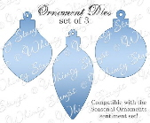 ###Whimsy Stamps - Ornaments Die Set - Shapeology Dies