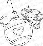 ###Whimsy Stamps - Ornament Mouse - Meljen's Designs