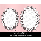 #My Favorite Things -  Oval Dainty Doily Duo Die-namics