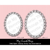 #My Favorite Things -  Oval Open Scallop Doily Duo Die-namics