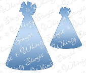 ###Whimsy Stamps - Party Hats Die Set - Shapeology Dies
