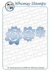 * Whimsy Stamps - Rolled Flowers Die Set - Shapeology Dies