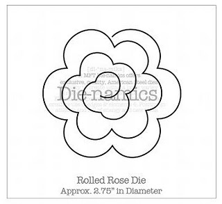 *BACK IN STOCK* Die-namics Rolled Rose