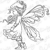 Whimsy Stamps - Wee Stamps - Silver Fairy - Wee Stamps