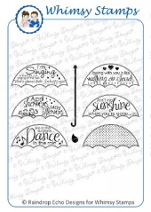 * Whimsy Stamps - Singing in the Rain - Sentiments Collection