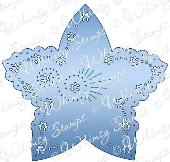 *** Whimsy Stamps - Star Spangled Tag - Shapeology Dies