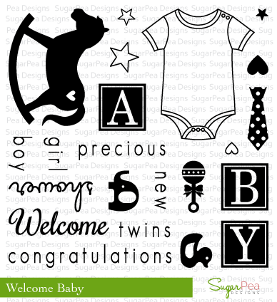 SugarPea Designs - Welcome Baby Stamp Set