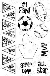 *** Whimsy Stamps - Sports Fan - Sentiments Collection