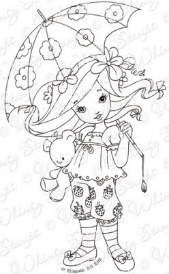 ** Whimsy Stamps - Strawberry Dreamer - Elisabeth Bell