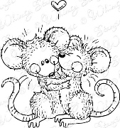 ** Whimsy Stamps - Teeny Mouse Hugs - Meljen's Designs