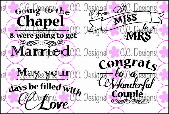 * NEW * CC Designs - C.C. Designs Wedding Labels Stamp Set