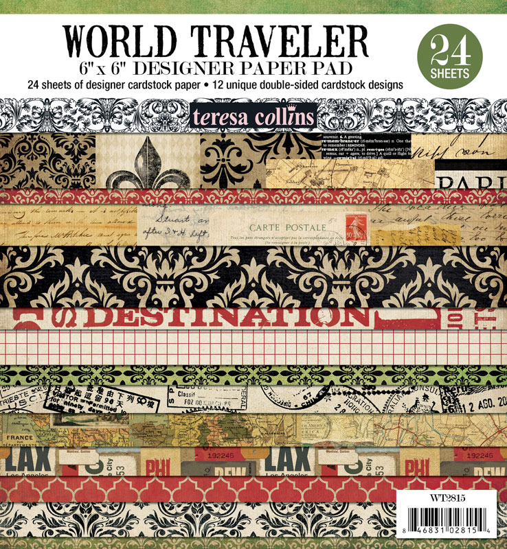 World Traveler 6 x 6 Designer Paper Pad