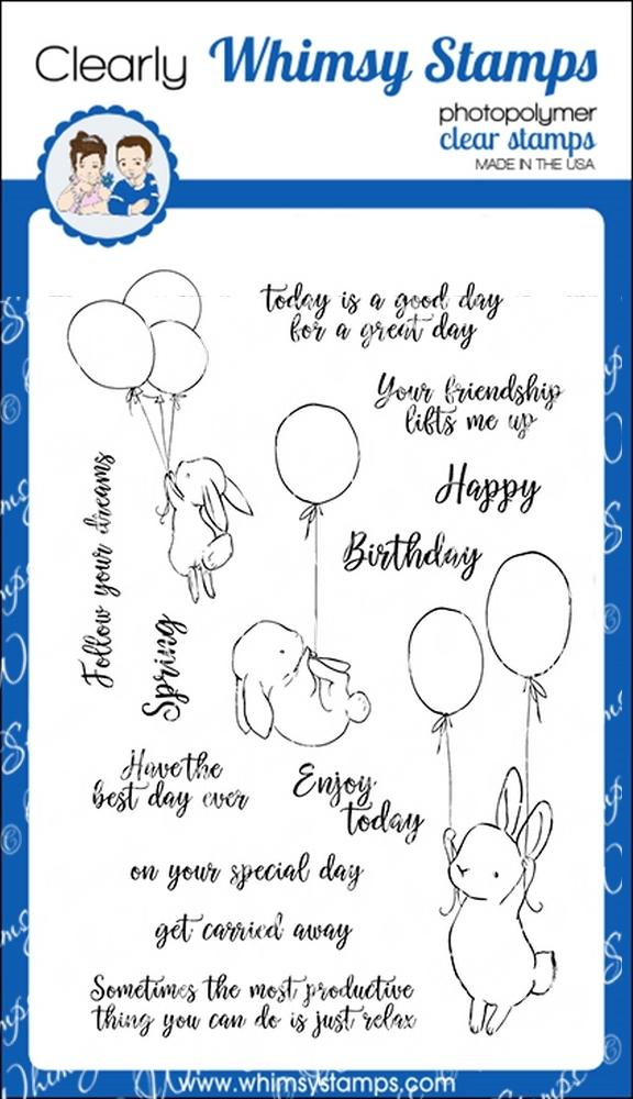 Whimsy Stamps - Bunny Balloons
