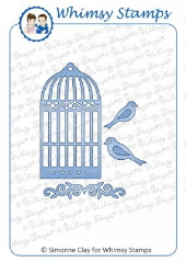 Whimsy Stamps - Bird Cage Die Set - Shapeology Dies