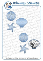 * Whimsy Stamps - Seashore Elements Die Set - Shapeology Dies